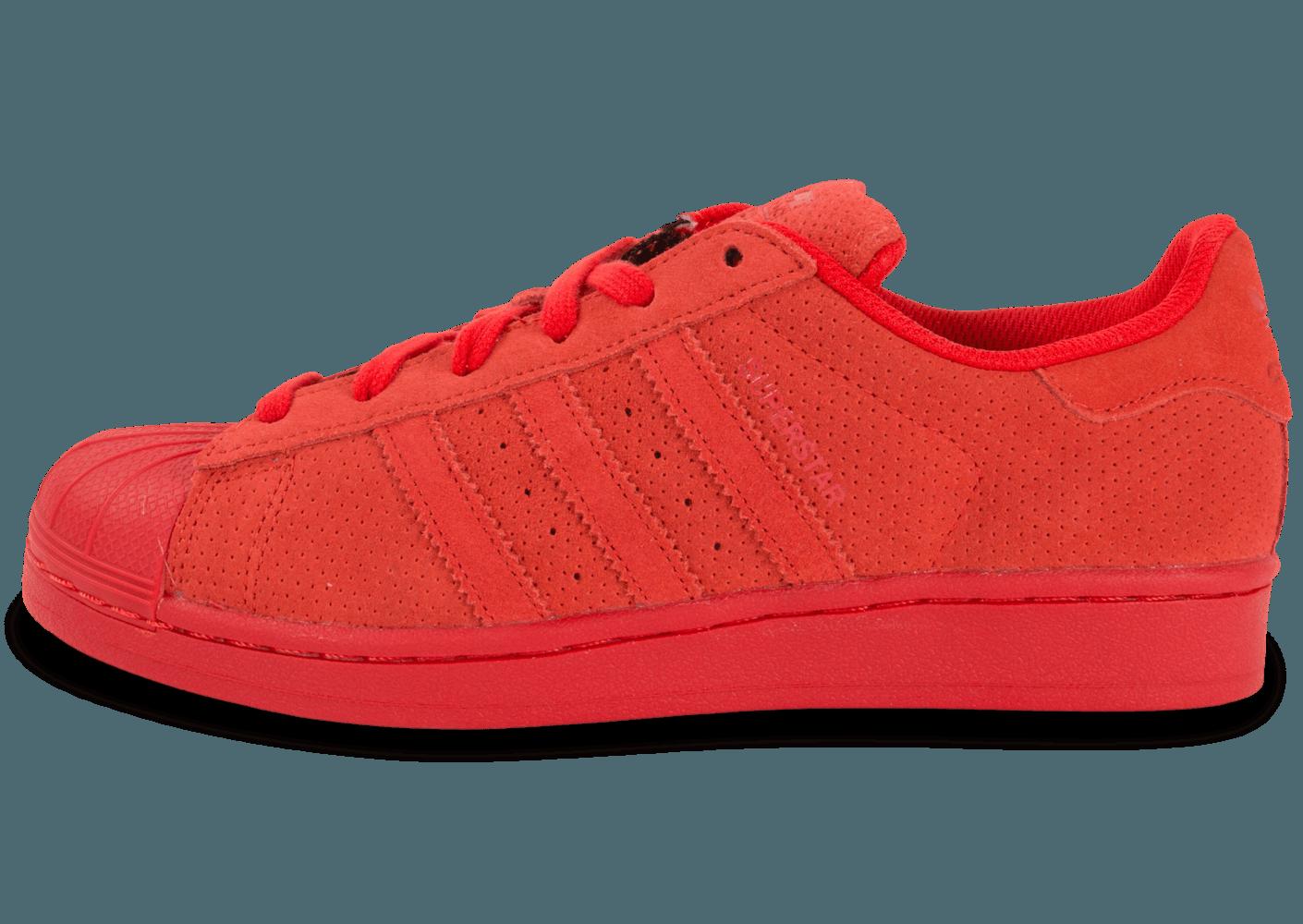 super mignon authentique durable adidas superstar rouge